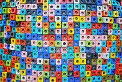 Kolorowy ceramiczny sześcian, Tajlandia zdjęcia stock