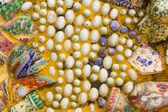 Kolorowy ceramiczny tło Fotografia Stock
