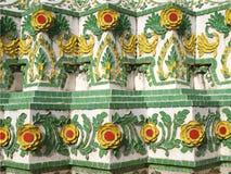 Kolorowy ceramiczny Tajlandzki wzór Fotografia Royalty Free