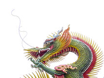 Kolorowy chiński smok na białym tle Obraz Royalty Free