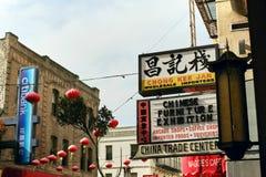 Kolorowy Chinatown w San Francisco, Kalifornia zdjęcie royalty free