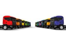 Kolorowy ciężarówki pojęcie ilustracja wektor