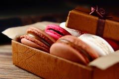 Kolorowy ciastka macaron Fotografia Royalty Free
