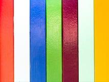 kolorowy ścienny drewniany Obrazy Royalty Free