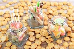 kolorowy cukierku cukierki Zdjęcia Stock