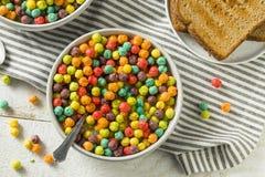 Kolorowy Cukrowy Śniadaniowy zboże zdjęcie stock