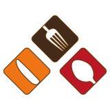 Kolorowy cutlery ikony wizerunku projekt ilustracja wektor
