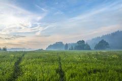 Kolorowy Czarodziejski lato krajobraz Fotografia Stock