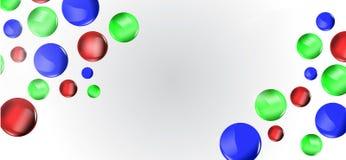 Kolorowy 3D piłek tło Obrazy Royalty Free