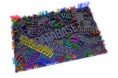 Kolorowy 3d rendering Kształta skład, geometryczna struktura, b royalty ilustracja