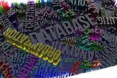 Kolorowy 3d rendering Tło kształta abstrakcjonistyczny skład, ge royalty ilustracja