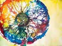 kolorowy dandelion Zdjęcia Royalty Free