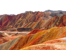 Kolorowy Danxia terenoznawstwo, Zhangye, Gansu, Chiny fotografia royalty free