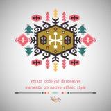 Kolorowy dekoracyjny element na etnicznym stylu Obrazy Stock