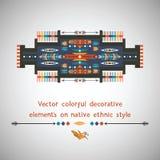 Kolorowy dekoracyjny element na rodzimym etnicznym stylu Obrazy Royalty Free