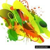 Kolorowy dekoracyjny tło z bezpłatnymi kształtami i kleksami ilustracja wektor