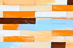 kolorowy deseniowy drewno Obraz Royalty Free