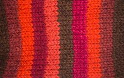 Kolorowy deseniowy ow wełny ręcznie robiony skarpety Naturalna odzież Obraz Royalty Free