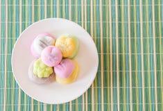 kolorowy deserowy mochi Obrazy Stock