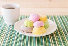 kolorowy deserowy mochi Fotografia Royalty Free