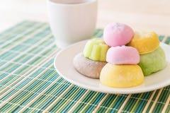 kolorowy deserowy mochi Fotografia Stock