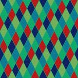 Kolorowy diamentu wzór, tekstury tło Obrazy Stock
