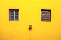 Kolorowy dom Dębny Teng Niah w Małym India, Singapur Obrazy Stock