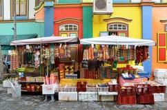 Kolorowy dom Dębny Teng Niah w Singapur Małym India Zdjęcia Stock