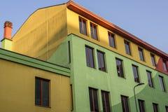 Kolorowy dom w Mediolan, Włochy Zdjęcie Royalty Free
