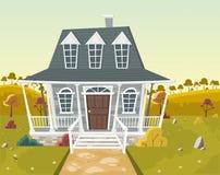 Kolorowy dom w przedmieścia sąsiedztwie Zdjęcia Stock