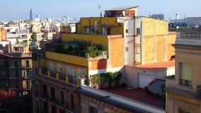 Kolorowy domu dach z kwiatami Obraz Royalty Free