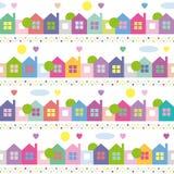 Kolorowy domu wzór Zdjęcia Stock