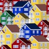 Kolorowy domu wzór Royalty Ilustracja