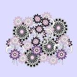 Kolorowy doodle skład kwiaty ilustracji