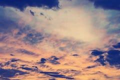 Kolorowy dramatyczny niebo Fotografia Royalty Free