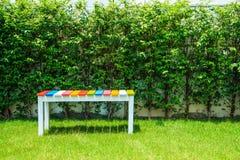Kolorowy drewniany krzesło fotografia royalty free