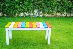Kolorowy drewniany krzesło obrazy royalty free