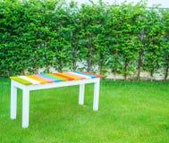 Kolorowy drewniany krzesło obraz stock