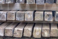 Kolorowy drewniany moczy deski Obrazy Stock
