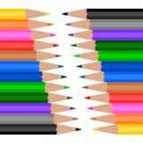 Kolorowy Drewniany ołówek Zdjęcia Stock