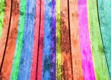 Kolorowy Drewniany skutek Fotografia Stock