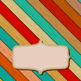 Kolorowy drewniany tło z copyspace. + EPS8 Obrazy Royalty Free