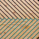 Kolorowy drewniany tekstura wzór pod naturalnym światłem słonecznym Zdjęcie Royalty Free