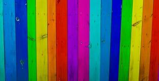 Kolorowy drewno zaszaluje tło Fotografia Royalty Free