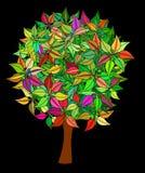 Kolorowy drzewo Obrazy Royalty Free
