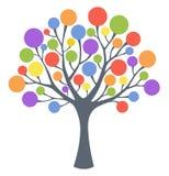Kolorowy drzewo ilustracja wektor