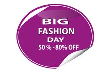 KOLOROWY DUŻY moda dzień 50%, 80% sieci ikona - ilustracji