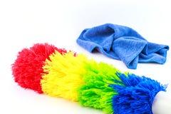Kolorowy duster z plastikową rękojeścią Obraz Stock