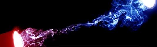 Kolorowy dym Zdjęcie Stock