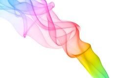 Kolorowy dym na białym tle. Fotografia Stock